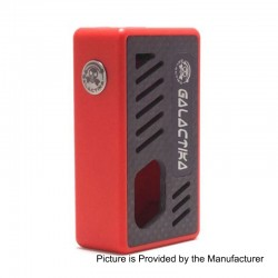 Xena Style Bottom Feeder Squonker Mechanical Box Mod - Red, PC + Carbon Fiber, 8ml, 1 x 18650