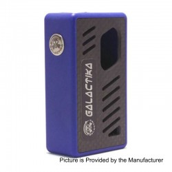 Xena Style Bottom Feeder Squonker Mechanical Box Mod - Blue, PC + Carbon Fiber, 8ml, 1 x 18650