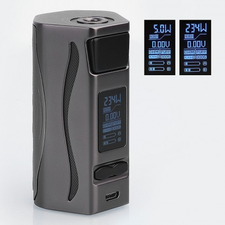 Authentic IJOY Genie PD270 234W TC Temperature Control Box Mod - Gun Metal, 5~234W, 2 x 20700, Without Battery