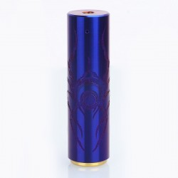 Rogue Style Cyclope Spider Pattern Hybrid Mechanical Mod - Enamel Blue, Brass, 1 x 18650