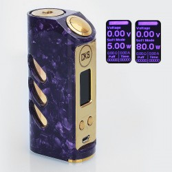 Authentic Asmodus Stride VR-80 80W TC VW Variable Wattage Box Mod - Purple, Stainless Steel, 5~80W, 1 x 18650
