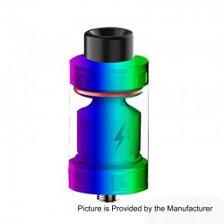Authentic Blitz Intrepid RTA Rebuildable Tank Atomizer - Rainbow, Stainless Steel, 3.5ml, 24.5mm Diameter