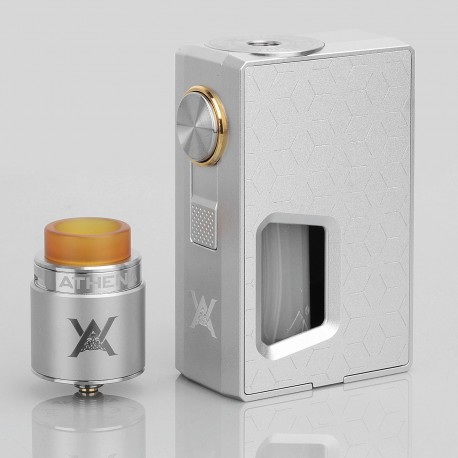 Authentic GeekVape Athena Squonk Mechanical Box Mod + BF RDA Squonker Kit - Silver, 6.5ml, 1 x 18650