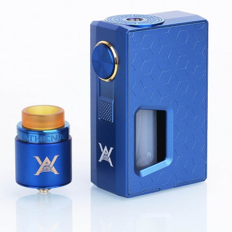 Authentic GeekVape Athena Squonk Mechanical Box Mod + BF RDA Squonker Kit - Blue, 6.5ml, 1 x 18650