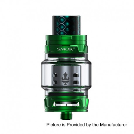 Authentic SMOKTech SMOK TFV12 Prince Sub Ohm Tank - Green, Stainless Steel, 8ml, 28mm Diameter, Standard Edition