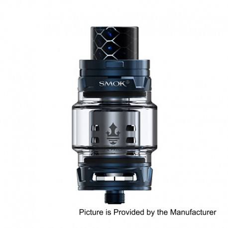 Authentic SMOKTech SMOK TFV12 Prince Sub Ohm Tank - Blue, Stainless Steel, 8ml, 28mm Diameter, Standard Edition