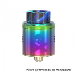 Authentic Vandy Vape Bonza RDA Rebuildable Dripping Atomizer w/ BF Pin - Rainbow, Stainless Steel, 24mm Diameter