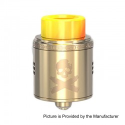 Authentic Vandy Vape Bonza RDA Rebuildable Dripping Atomizer w/ BF Pin - Gold, Stainless Steel, 24mm Diameter