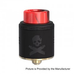 Authentic Vandy Vape Bonza RDA Rebuildable Dripping Atomizer w/ BF Pin - Black, Stainless Steel, 24mm Diameter