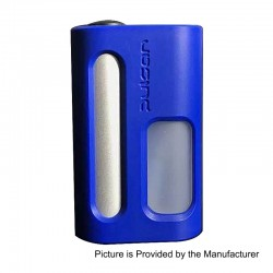 YFTK Pulsar Style Mechanical Squonker Box Mod - Blue, POM + Stainless Steel, 11ml, 1 x 18650