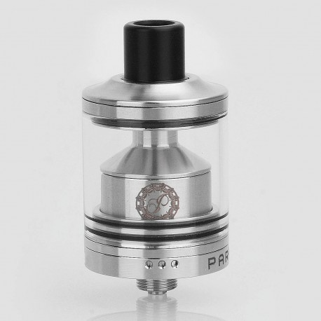 Switch Style RTA Rebuildable Tank Atomizer - Silver, Stainless Steel, 24mm Diameter