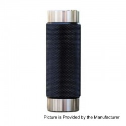 Authentic Wismec Reuleaux RX Machina Mechanical Mod - Knurled Blackout, Stainless Steel + Resin, 1 x 18650 / 20700
