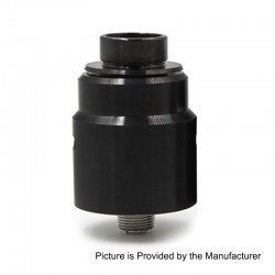 Entheon Style RDA Rebuildable Dripping Atomizer w/ BF Pin - Black, Stainless Steel, 22mm Diameter