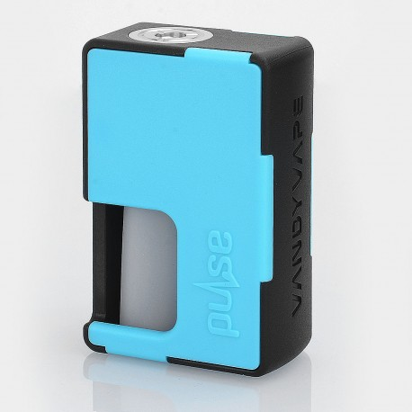 Authentic Vandy Vape Pulse BF Squonk Mechanical Box Mod - Black + Cyan, Nylon + ABS, 8ml, 1 x 18650 / 20700