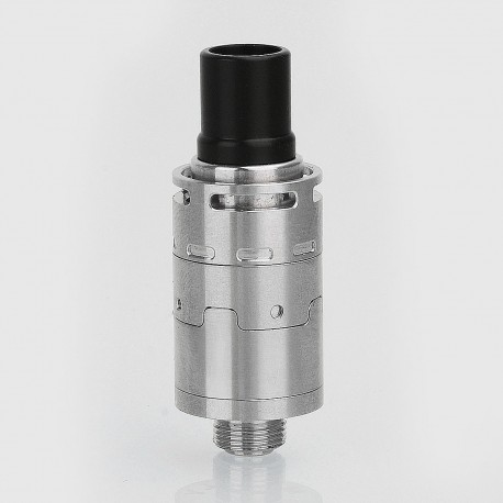 YFTK Mcfly Style RDA Rebuildable Dripping Atomizer w/ BF Pin - Silver, Stainless Steel, 14mm Diameter