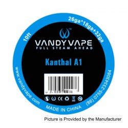 Authentic Vandy Vape Kanthal A1 Heating Resistance Wire - 26GA x 18GA + 32GA, 3m (10 Feet)