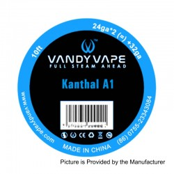 Authentic Vandy Vape Kanthal A1 Heating Resistance Wire - 24GA x 2 + 32GA, 3m (10 Feet)