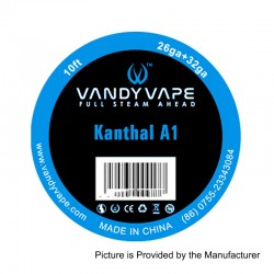 Authentic Vandy Vape Kanthal A1 Heating Resistance Wire - 26GA + 32GA, 3m (10 Feet)