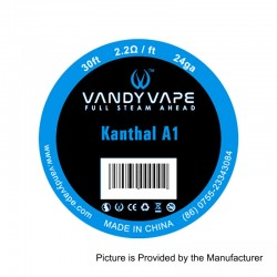 Authentic Vandy Vape Kanthal A1 Heating Resistance Wire - 24GA, 2.2 Ohm / Ft, 10m (30 Feet)