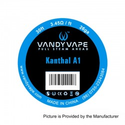 Authentic Vandy Vape Kanthal A1 Heating Resistance Wire - 26GA, 3.45 Ohm / Ft, 10m (30 Feet)