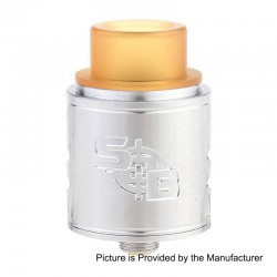 SOB Style RDA Rebuildable Dripping Atomizer - Silver, Stainless Steel, 24mm Diameter