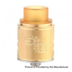 SOB Style RDA Rebuildable Dripping Atomizer - Gold, Stainless Steel, 24mm Diameter