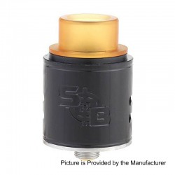 SOB Style RDA Rebuildable Dripping Atomizer - Black, Stainless Steel, 24mm Diameter