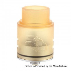 SOB Style RDA Rebuildable Dripping Atomizer - Yellow, PEI + Stainless Steel, 24mm Diameter