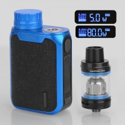 Authentic Vaporesso Swag 80W TC VW Variable Wattage Box Mod + NRG SE Tank Kit - Blue, 5~80W, 1 x 18650, 3.5ml, 22mm Diameter