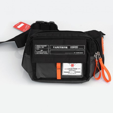 Authentic Vapethink Explorer 2 Carrying Storage Bag for E-cigarette - Black, Polyester, 210 x 155 x 90mm