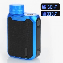 Authentic Vaporesso Swag 80W TC VW Variable Wattage Box Mod - Blue, Aluminum Alloy, 5~80W, 1 x 18650