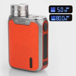 Authentic Vaporesso Swag 80W TC VW Variable Wattage Box Mod - Orange, Aluminum Alloy, 5~80W, 1 x 18650