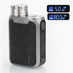 Authentic Vaporesso Swag 80W TC VW Variable Wattage Box Mod - Silver, Aluminum Alloy, 5~80W, 1 x 18650