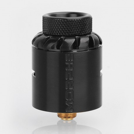 Authentic Tigertek Morphe RDA Rebuildable Dripping Atomizer w/ BF Pin - Black, Stainless Steel, 24mm Diameter