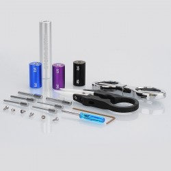 Authentic Steam Shark 6 Size in 1 Coil Jig Coiling Kit - Silver, 1.5mm + 2mm + 2.5mm + 3mm + 3.5 mm + 4mm