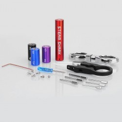 Authentic Steam Shark 6 Size in 1 Coil Jig Coiling Kit - Red, 1.5mm + 2mm + 2.5mm + 3mm + 3.5 mm + 4mm