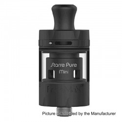 Authentic FreeMax Starre Pure Mini Sub Ohm Tank Atomizer - Black, 316 Stainless Steel, 2ml, 22mm Diameter