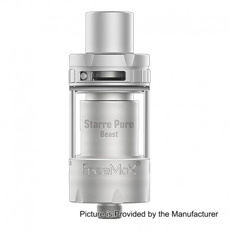 Authentic FreeMax Starre Pure Beast CL Sub Ohm Tank Atomizer - Silver, 316 Stainless Steel, 2ml, 22mm Diameter
