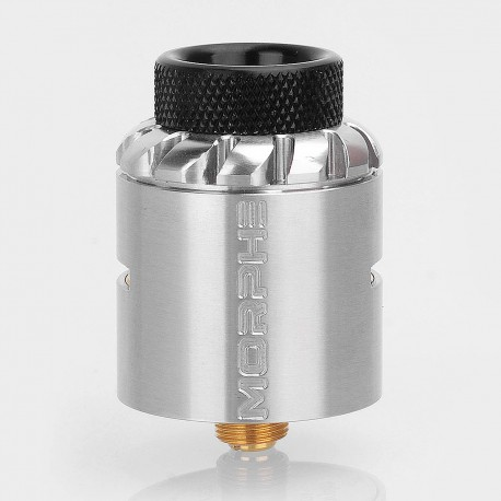 Authentic Tigertek Morphe RDA Rebuildable Dripping Atomizer w/ BF Pin - Silver, Stainless Steel, 24mm Diameter