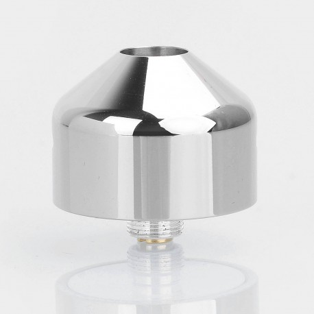 Little Cannon Style RDA Rebuildable Dripping Atomizer - Silver, Titanium + Stainless Steel, 24mm Diameter