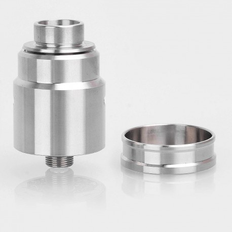 Entheon Style RDA Rebuildable Dripping Atomizer w/ BF Pin - Silver, Stainless Steel, 22mm Diameter