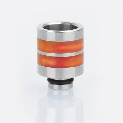 510 Replacement Drip Tip for SMOKTech SMOK TFV8 Baby Sub Ohm Tank - Orange, Epoxy Resin + Stainless Steel, 21mm
