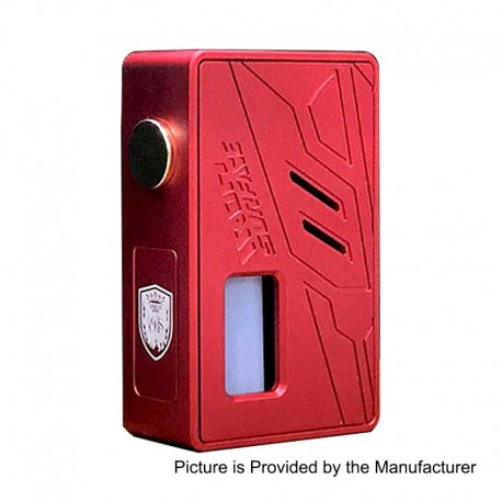 Authentic VBS Iron Surface Bottom Feeder Squonk Mechanical Box Mod - Red, Aluminum, 7ml, 1 x 18650 / 20700