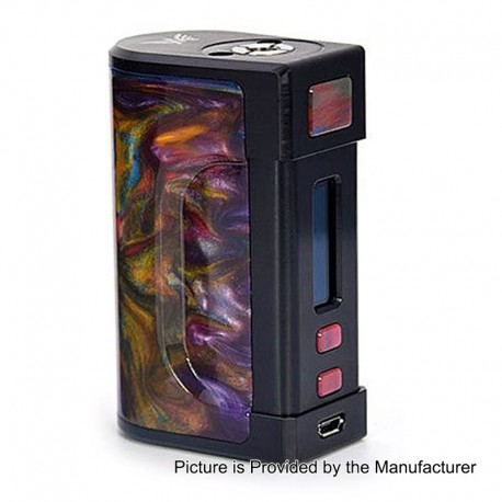 Authentic Aleader AK 100W TC VW Variable Wattage Box Mod - Random Color, Aluminum + Resin, 2 x 18650 / 26650
