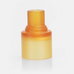 Replacement Drip Tip Cap Sleeve for Speed Revolution Style RDA - Brown, PEI