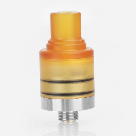 Speed Revolution Style RDA Rebuildable Dripping Atomizr w/ BF Pin - Brown, PEI + Stainless Steel, 18mm Diameter