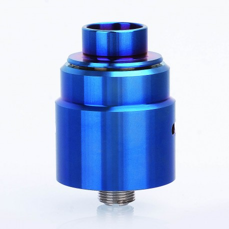 Entheon Style RDA Rebuildable Dripping Atomizer w/ BF Pin + Spare Drip Tips - Enamel Blue, 316 Stainless Steel, 22mm Diameter