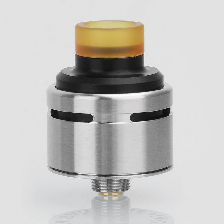 SXK Squi Style RDA Rebuildable Dripping Atomizer w/ BF Pin - Silver, 316 Stainless Steel + POM, 22mm Diameter