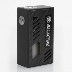 Xena Style Bottom Feeder Squonker Mechanical Box Mod - Black, POM + Carbon Fiber, 8ml, 1 x 18650