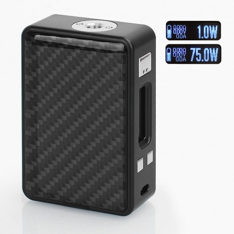 Authentic Hcigar VT Inbox 75W TC VW Varible Wattage Box Mod - Black, 1~75W, 1 x 18650, Evolv DNA75 Chip